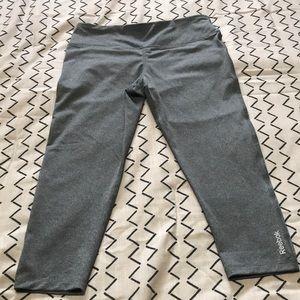 Grey Reebok Dryfit workout capris